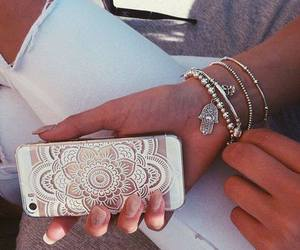iphone, girl, and nails image
