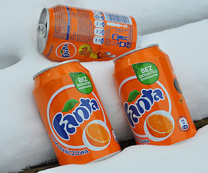 fanta, orange, and drink image