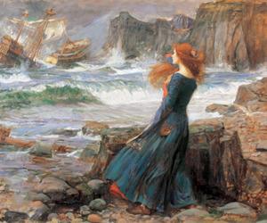 art, girl, and ship image