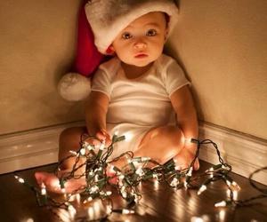 baby, christmas, and light image