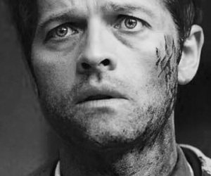 castiel, supernatural, and blue eyes image