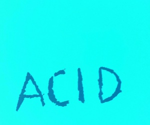 acid, blue wall, and engraved image