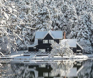 winter, beautiful, and house image