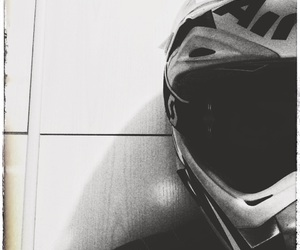 black and white, fuel, and helmet image