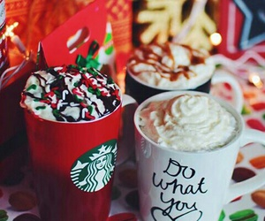 coffee, christmas, and starbucks image