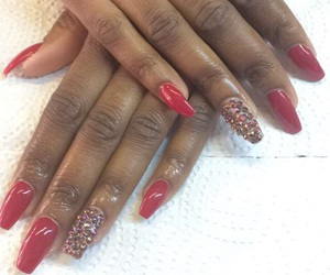 acryl, nails, and red image