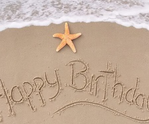 beach, happy, and birthday image