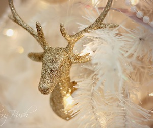 christmas, deer, and glitter image