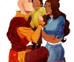 family, avatar the last airbender, and avatar aang image
