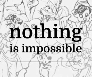 quote, impossible, and nothing image