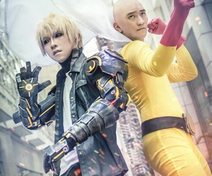 one punch man, cosplay, and genos image