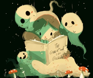 book, ghost, and outside image