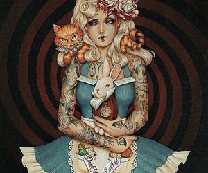 alice, tattoo, and alice in wonderland image
