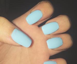 blue, blue nail polish, and fake nails image