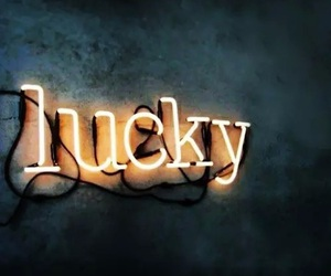 lucky, light, and neon image