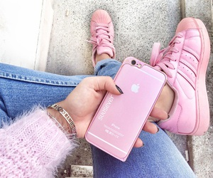 apple, fashion, and pink image