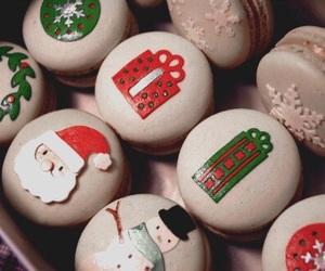 christmas, food, and macarons image