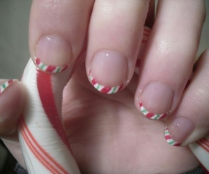 candy cane, christmas, and nails image