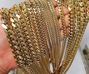 jewellery, chains, and gold image