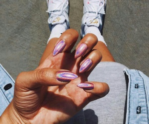 jean, nails, and sneakers image