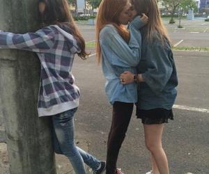 lesbian, couple, and grunge image