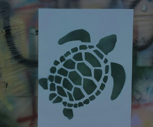 abstract, art, and turtle image