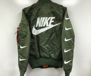 nike, jacket, and green image
