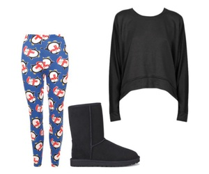 christmas, penguins, and Polyvore image