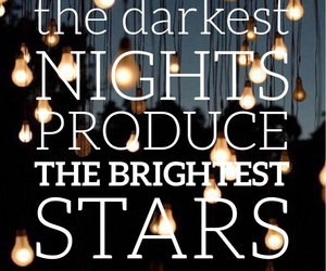 quotes, stars, and easel image
