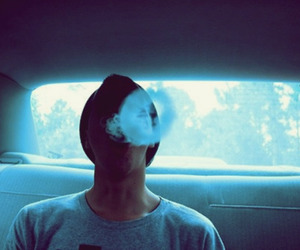 boy, smoke, and car image