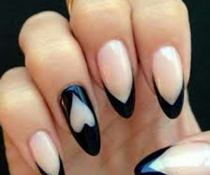 beauty, black and white, and nails image