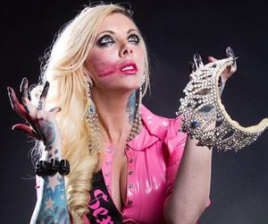 in this moment, maria brink, and sex metal barbie image