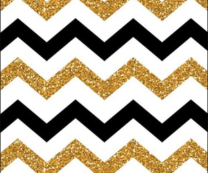 black, chevron, and gold image