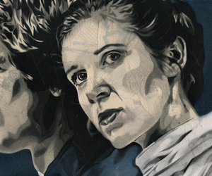 art, carrie fisher, and han solo image