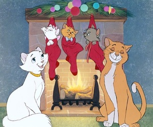 aristocats, disney, and christmas image