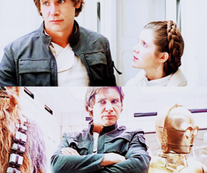 carrie fisher, funny, and han solo image