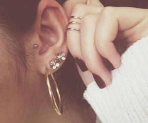 piercing and nails image