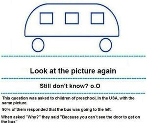 :)), bus, and children image