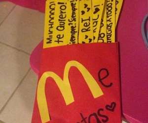 amor, gift, and McDonalds image