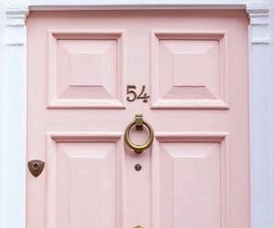 door, pastel, and pink image
