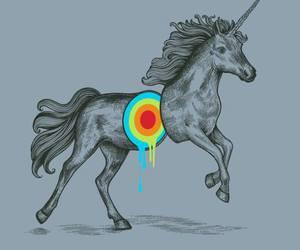unicorn, rainbow, and art image