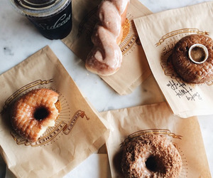 food, donuts, and breakfast image