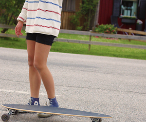 clothes, longboard, and summer image