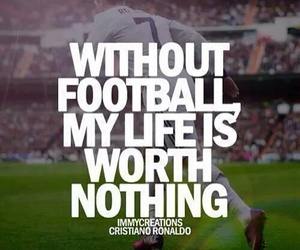 football, soccer, and life image
