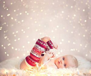 baby, christmas, and winter image
