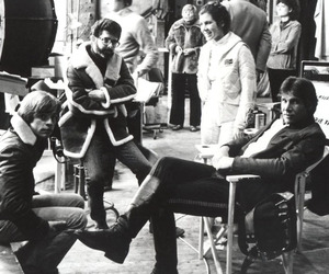 black, carrie fisher, and han solo image