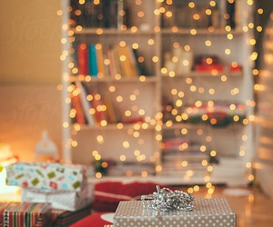 christmas, lights, and presents image