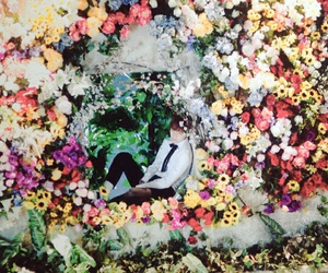 bts, v, and flowers image
