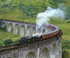harry potter, scotland, and train image