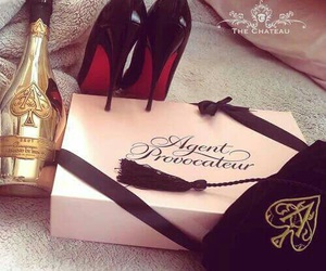 agent provocateur, champagne, and louboutin image